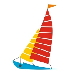 Sailing yacht icon vector image