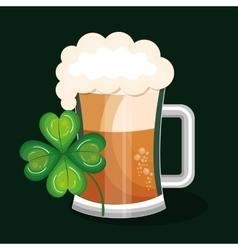 Saint patrick day green beer vector