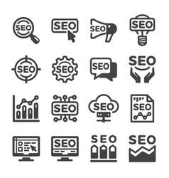 seo icon vector image