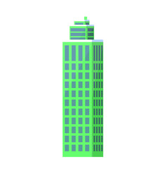 set of city buildings icons vector image