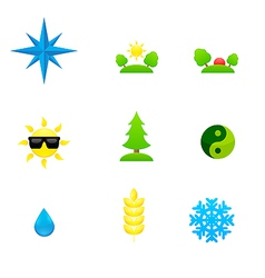 Set of icons of different directions vector image