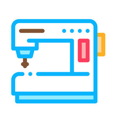 Sewing machine icon outline vector