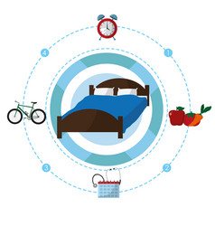 Sleep time concept vector