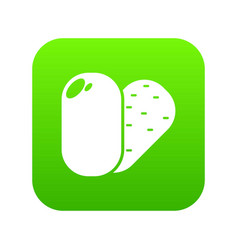 Soap icon green vector