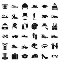 stylish clothes icons set simple style vector image