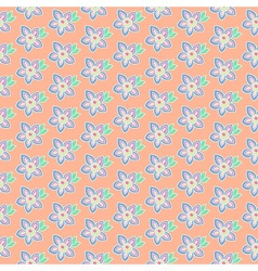 Summer pastel flowers vector