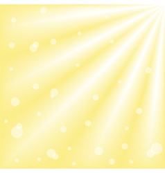 sun with ray lights and bokeh vector image