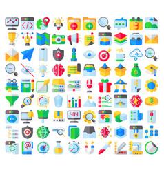 think creative flat vector image