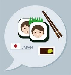Travel collection Japan vector image