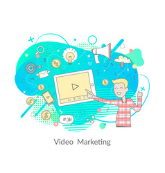 video marketing modern technologies and media vector image