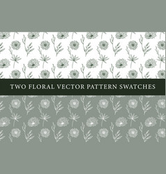 vintage floral pattern swatches vector image