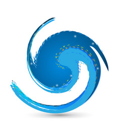 water circular wave icon vector image