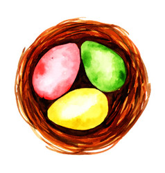 watercolor easter eggs vector image