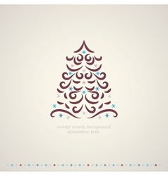 Winter trees events background vector image