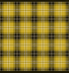 yellow tablecloth tartan plaid seamless pattern vector image