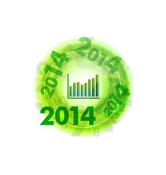 abstract circle number green up 2014 vector image