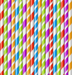 Drinking straws background vector image vector image