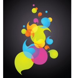 rainbow bubbles banner vector image