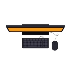 tech computer desk with keyboard and mice vector image
