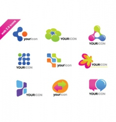 web icons and logos vector image vector image