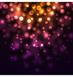 Abstract falling lights dark background vector image vector image