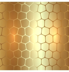 abstract metal gold background with polygons vector image vector image