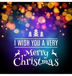 Merry Christmas card poster design vector image vector image