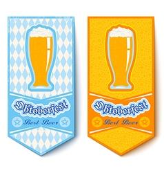 oktoberfest 2016 glass mug beer vector image vector image