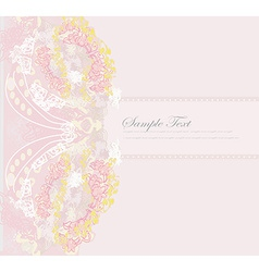 romantic flower invitation card vector image