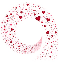 Stream Red Hearts vector image vector image