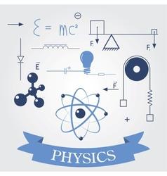 Symbols of physics vector