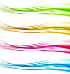 Collection of colorful bright web header footer vector image