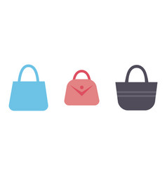 luxury leather fashion female hand bag glamour vector image