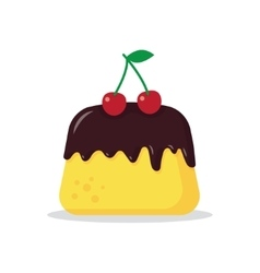 pudding with a cherry vector image vector image