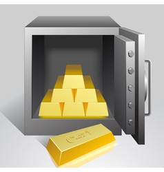 Safe with gold vector image