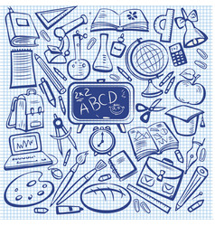 school and education sketch set vector image vector image