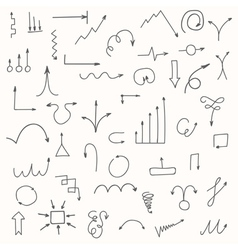 Set of hand drawn arrows Sketched style vector image vector image