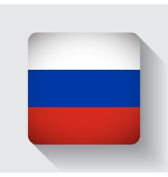Web button with flag of Russia vector image vector image