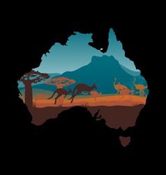 Australia travel design template vector image