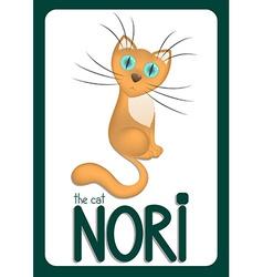 Cartoon cat Nori vector image