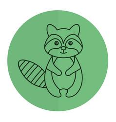 cute and tender raccoon vector image vector image