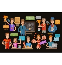 education or school college icons set vector image vector image