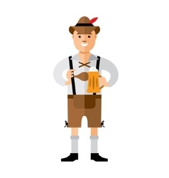 German with Beer Flat style colorful vector image vector image