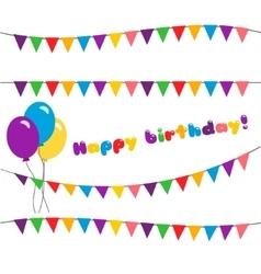 Set happy birthday garland vector image vector image