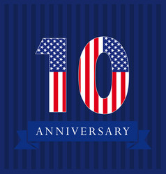 10 anniversary usa vector