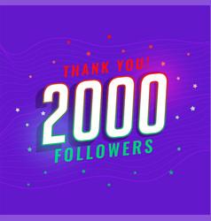 2000 social medial followers network background vector