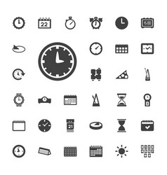 33 time icons vector