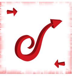 3d arrow icon vector