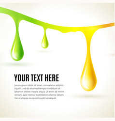 abstract liquid colored drops business vector image