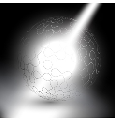 Abstract sphere on gray background vector